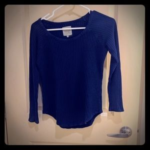 Chaser Blue Weave Sweater Sz Small